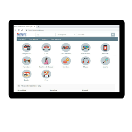 Besidr Classifieds - Free Classified Website